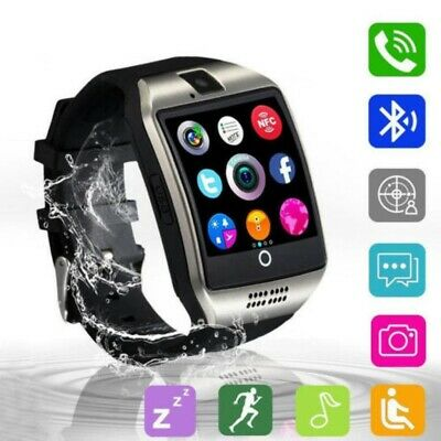 Q18 GT08 Bluetooth Smart Watch For Android iOS iPhone Apple GSM GPRS SIM Black U