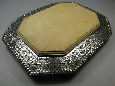 Antique Walker & Hall Silver Plated Bread Board Cheese Board ~ Leaves & Berries