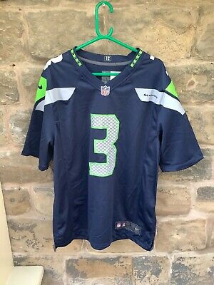 Brand New With Tags NFL Nike Seattle Seahawks Jersey Navy Wilson 3