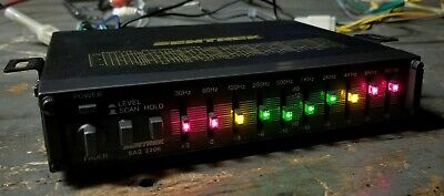 Old school Sentrek graphic equalizer with LEDs - COOL! - Tested & works perfect