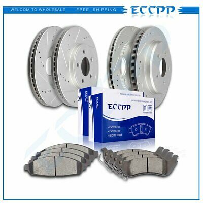 Front Drilled Slotted Brake Rotors /& Ceramic Pads For 2003-2011 Ford Crown Vic