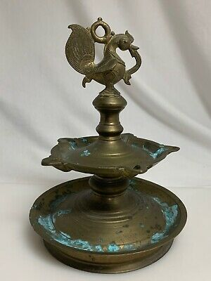 Mughal Indian India Brass Oil Lamp  -   59783