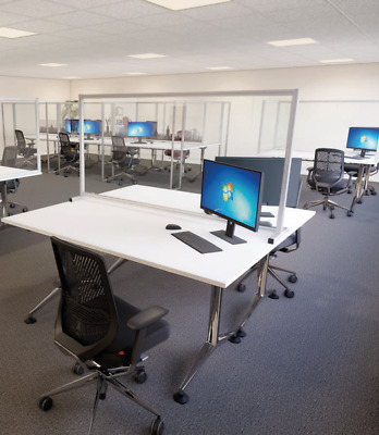 Office Protective Desk Screens - Social Distancing - Employee Safety