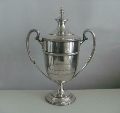 SUPERB SOLID SILVER TROPHY CUP Sheffield 1934 Mappin & Webb 619.1g