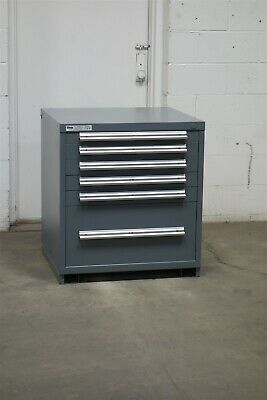 Used Stanley Vidmar 6 drawer cabinet 33 high industrial tool storage #2151