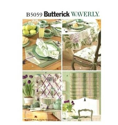 Butterick B5059 Waverly Essential Home Decor Kitchen Items Uncut Sewing Pattern