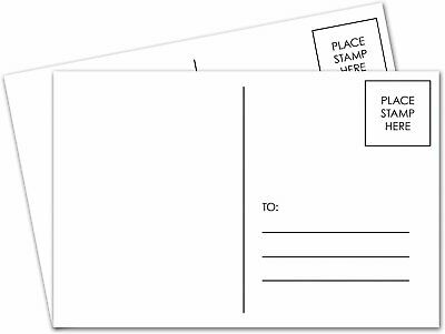 4 x 6 Blank White Postcards Postal office compliant (mailable) 50 per pack