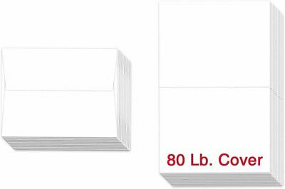 "A2-4 1/4 x 5 1/2"" - Heavyweight Blank White Greeting Cards and Envelopes