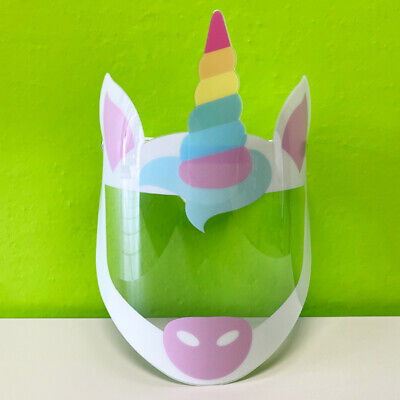 Face Shield | Kids & Adults | Cartoon | Unicorn Dog Princess Wolf