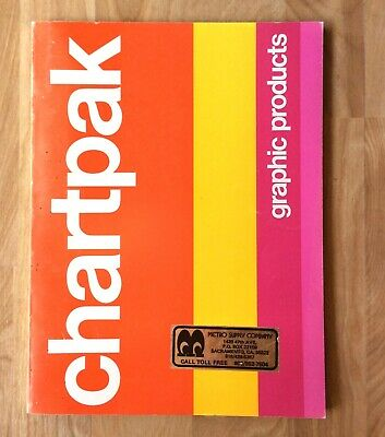 Vtg CHARTPAK Graphic Design Products Catalog 1977 Dry Transfer Lettering Fonts