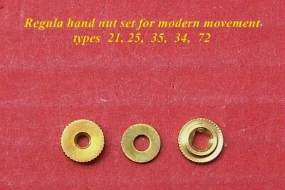 Regula,  hand nut, minute hand bush &  washer,  3 pieces only...