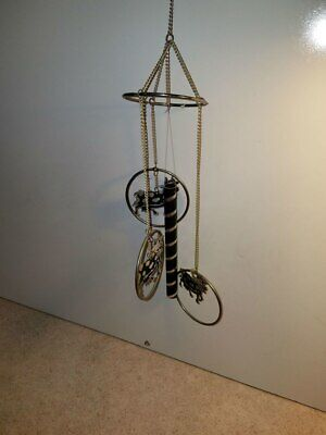 Black and White Metal Holstein Cow Wind Chime