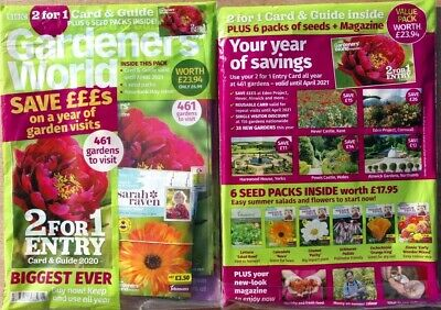Gardeners World Magazine May 2020 With 2 For 1 Entry Card & 6 Packs Of Seeds