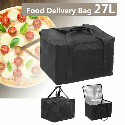 4Sizes Pizza Food Delivery Bag Black Thermal Insulated NYLON Holds Pizzas Pies
