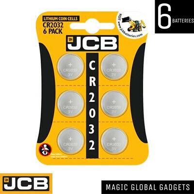 6 X JCB CR2032  3V Lithium Button Coin Cell Battery DL2032 BR2032 Brand NEW