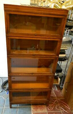 "Vintage Globe Wernicke 811 5-Level 11"" Glass Fronted Barrister's Bookcase GREAT"