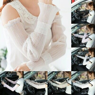 Women Oversleeves Sunscreen Breathable Mittens Driving UV Arm Sleeve Cover Glove