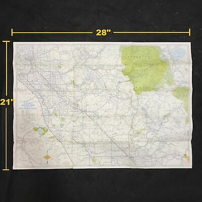 AAA Yosemite National Park and Part of San Joaquin Valley Topographic Map