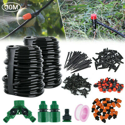 100ft 30M DIY Automatique Drip Système Irrigation Kit Micro Arroseur Arrosage