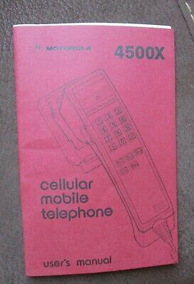 VINTAGE VODAPHONE MOTOROLA 4500X users manual 36 pages good condition.