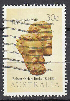 Australien Briefmarke gestempelt 30c William John Wills 1834 1861 Statue / 612