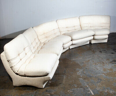 Mid Century Danish Modern Sectional Sofa Couch Weiman Preview Kagan Wool White M