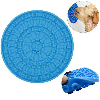 Dogs Puppy Pet Lick Pad Bath Buddy Distractor Wall Lick Mat Slow Feeder Red Blue