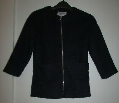 Girls Coat Age 7-8 Years By The New She Navy Wool Blend Good Condition
