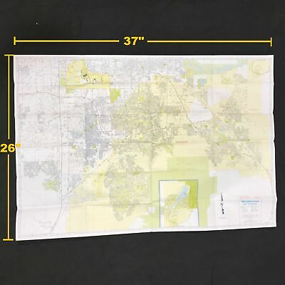 AAA Henderson and Vicinity Area Road Travel Map City Series Year 2004