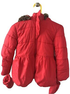 Red Girls Toddler coat Age 2-3, Marks And Spencer