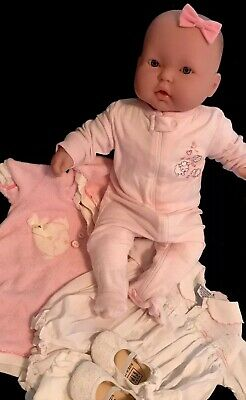 "Berenguer Baby Doll Lots to Cuddle Side-glance Eyes 20""  Sucks Thumb  W/outfits"