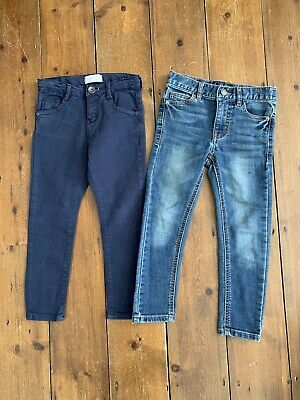 Boys Zara NEXT Age 5 Years Jeans BUNDLE Skinny Fit x 2 Blue Navy