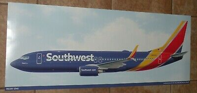 Southwest Airlines Heart One Poster New  Boeing 737 800