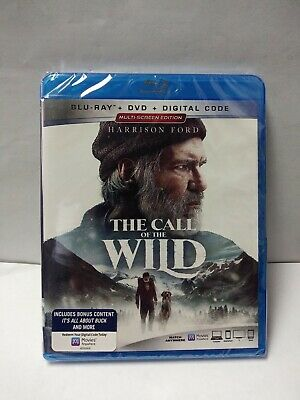 The Call of the Wild (Blu-ray+DVD) 2020 Sealed- No slipcover