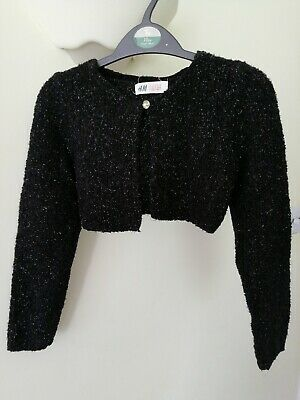 Lipsy Girls Silver Grey Glitter Shrug//Cropped Cardigan 8-9 years BNWT