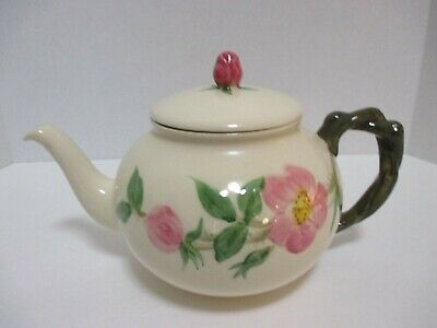 Vintage Franciscan Hand Painted 4 Cup DESERT ROSE Teapot USA 1953-1958