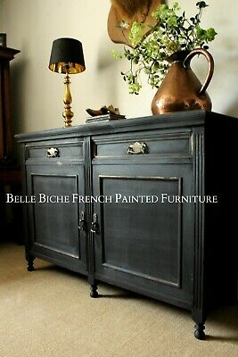 Painted Sideboard Bohemian Style Parisian Noir Two Door Side Cabinet