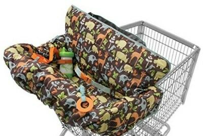 Brown Animals Jungle Infantino Compact Baby Child High Chair Shopping Cart Cover