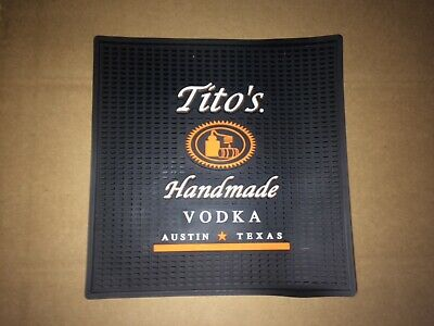 "TITO'S Handmade Vodka Austin Texas Bar Counter Drink Mat 12""x 12"" New!"