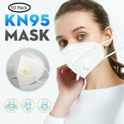 10 Pieces KN95 Face Mask Mouth Cover With Valve - Ship same day from NY USA