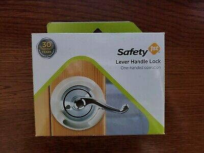 French Door Lever Handle Baby Proof Child Lock Safety 1st One Hand Use 48400