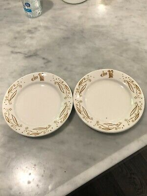 """TWO (2) Hard To Find Elias Brothers Big Boy 6 1/4"""" Side Plates"""