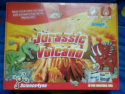 Science4you Jurassic Volcano Science Kit Ages 8+ Includes 36 Page Booklet *NEW*