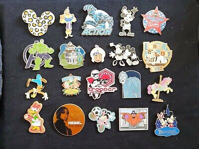 Disney 20 Pin Trading Lot B Authentic No Scrapers/Fakes