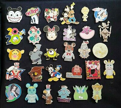 Disney 30 Pin Trading Lot C Authentic No Scrapers/Fakes