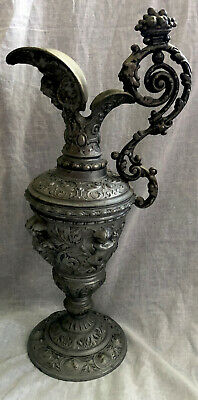 Ewer Copper Patinated Spelter Baluster Unique 19th Century Circa 1800s Antique