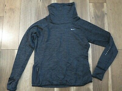Nike Dri Fit 799891-010 Women's Gray Therma Sphere Element Running Pullover Sz L