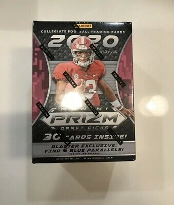 2020 Panini Prizm Draft Picks Collegiate Football Factory Sealed Blaster Box.Tua