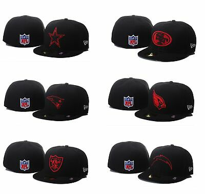 New Era NFL Black/Red Basic 59FIFTY Team Logo Fitted Hat