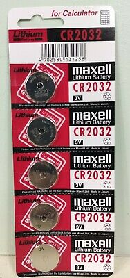 5 X Maxell CR 2032 Lithium Coin Cell Button 3V Battery Batteries free postage